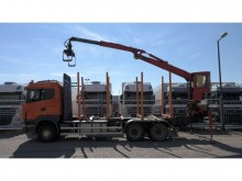 camión Scania R 480 6X4 MANUAL GEABOX LOG TANSPOT WITH JONS