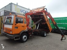 camion Renault M140 + 3X Tipper + crane + manual