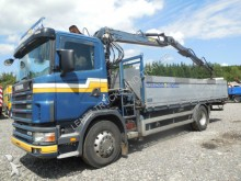 camion Scania R124-V KRAN DOPPELTELE-SCHROTT