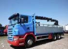 camion piattaforma trasporto bibite Scania usato