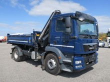 camión MAN 15.250 TGM 4x2 Kipper Kran Hiab 144 Euro 6