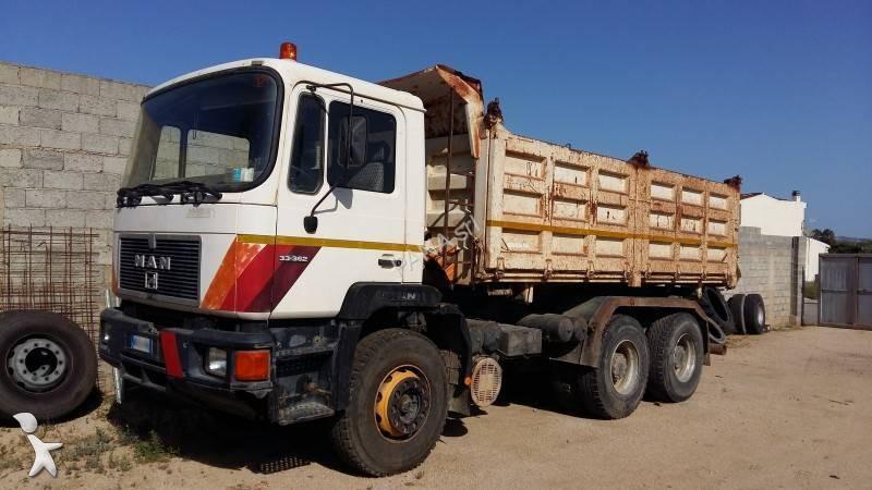 Camion man ribaltabile trilaterale 6x4 euro 0 usato - Portata massima camion italia ...