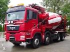 camion MAN TGS 41.480 8x4 Eur5 Pump + Mixer PUTZMEISTER 28M