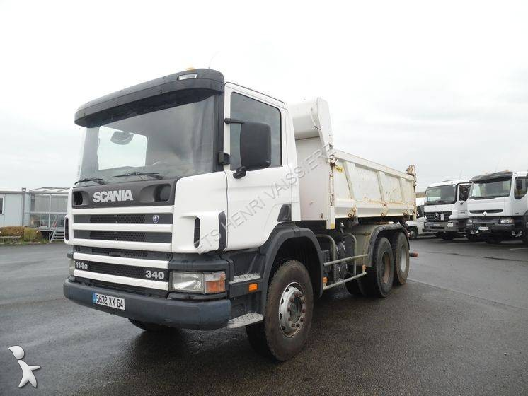 Camion scania bi benne marrel c 114c340 6x4 euro 3 for Porte universelle benne