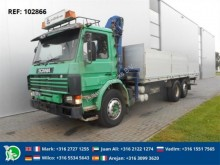 used Scania flatbed truck