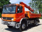 camión Mercedes ATEGO 1524 4x4 EURO5 KIPPER + KRAN MKG