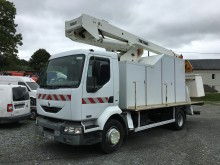 camión plataforma elevadora articulada telescópica Renault usado