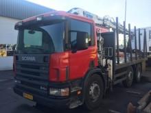 camion piattaforma Scania usato