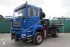 camión MAN TGA 18.350 4x4 BB - BORDMATIK-KRAN HIAB FERNFUNK