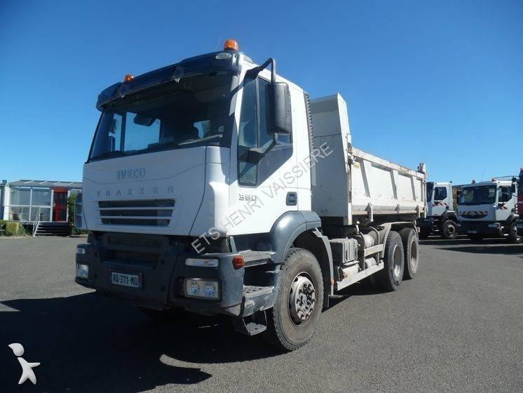 Camion iveco bi benne marrel trakker 380 6x4 euro 3 for Porte universelle benne