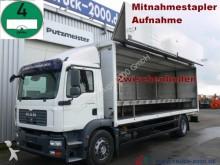 camión caja abierta transporte de bebidas MAN usado