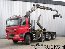 camion Ginaf 8x4 HOOKLIFT + CRANE WITH REMOTE