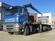 used MAN hook lift truck