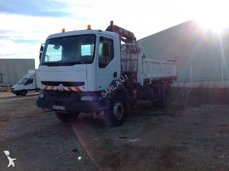 Camion renault tri benne marrel kerax 260 4x2 gazoil euro for Porte universelle benne