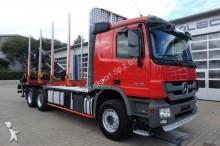 camion Mercedes Actros 2648L 6x4 Holztransporter Retarder Kran