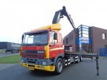 camion DAF 85.360 ATI / PLatform / Effer 52 T/M Crane / NL