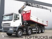 camion DAF CF 85.460 8x4 TIPPER HIAB 166-4 CRANE / KRAN + R