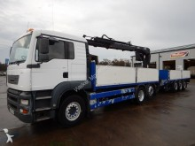 camion ERF ECT 6 X 2 DRAWBAR BRICK CRANE AND TRAILER - 2005 - LN05 JTN