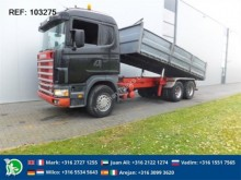 camion Scania R144.460 TIPPER FULL STEEL