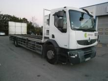camión caja abierta transporta gas usado