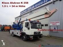 camion MAN 8.160 Klaas 34m Montage Dachdecker Kran 1.Hand