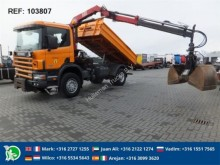 camion Scania P114.340 TIPPER WITH CRANE GERMAN TRUCK!