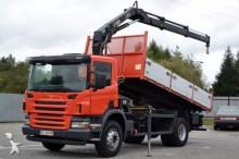 camion Scania P270 Kipper 4,90 m + KRAN Top Zustand!