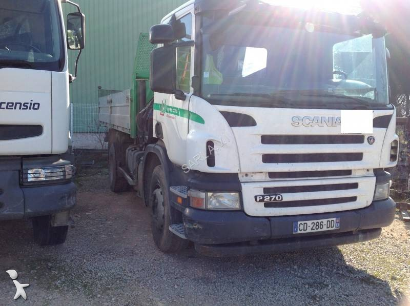 Camion scania benne 4x2 gazoil euro 4 grue occasion n for Porte universelle benne