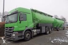 camion Mercedes Actros 2746 6x2 Silo 31 m³ + Anhänger Silo 33 m³
