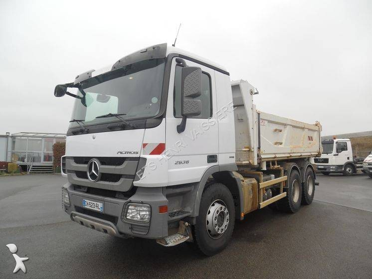 Camion mercedes bi benne cif actros 2636 6x4 euro 5 for Porte universelle benne