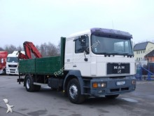 camion MAN 19.403 Pritsche Bordwände Kran MARREL