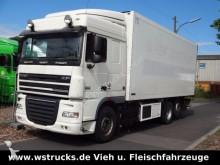 camion DAF XF 105/410 Spacecab Rohrbahn/Meat Schmitz