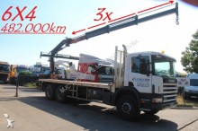 Scania 124C-360 - 6x4 + ATLAS 140 - 3x HYDR EXTENSIBLE truck