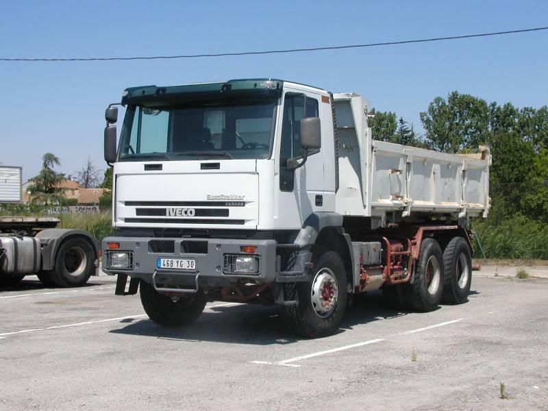 location camion iveco bi benne cursor 350 6x4 gazoil. Black Bedroom Furniture Sets. Home Design Ideas