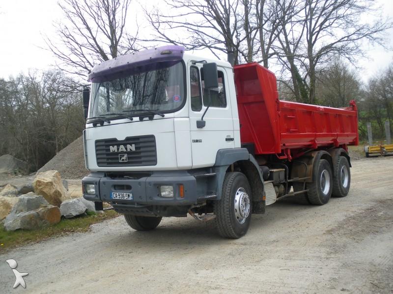 Camion man bi benne meiller f2000 6x4 gazoil nc for Porte universelle benne