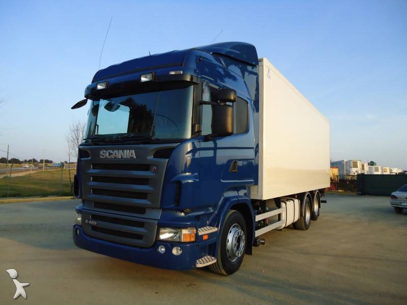 camion scania isotherme r 420 6x2 gazoil occasion n 446999. Black Bedroom Furniture Sets. Home Design Ideas