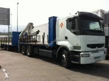 camión remolque caja abierta Renault usado