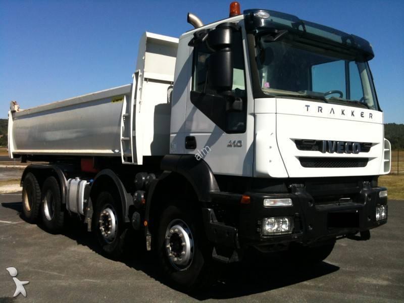 camion iveco bi benne marrel trakker 340 t 41 8x4 occasion n 592854. Black Bedroom Furniture Sets. Home Design Ideas