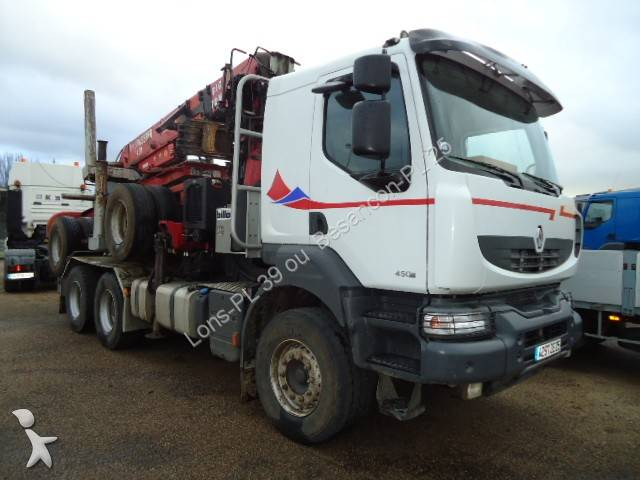 used renault kerax timber truck 6x4 diesel euro 4 crane n 655850. Black Bedroom Furniture Sets. Home Design Ideas