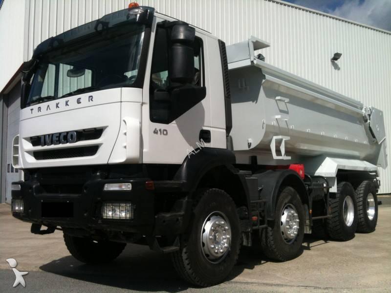 camion iveco benne enrochement trakker ad 410 t 45 8x4 gazoil euro 4 occasion n 742390. Black Bedroom Furniture Sets. Home Design Ideas