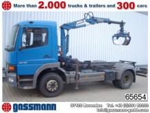 camión Mercedes Atego 1218 4x2 mit Kran MKG HLK25 Sitzhzg./Klima