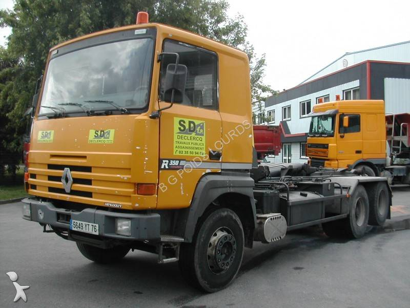 Camion renault polybenne gamme r 350 6x4 euro 0 occasion for Interieur camion renault t