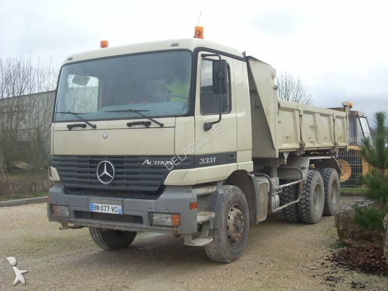 camion mercedes bi benne cif actros 3331 6x4 euro 2 occasion n 822189. Black Bedroom Furniture Sets. Home Design Ideas