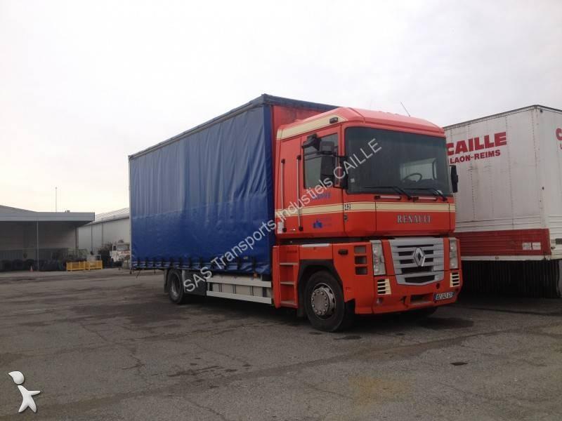 camion renault rideaux coulissants plsc magnum 440 dxi 4x2 euro 4 occasion n 910045. Black Bedroom Furniture Sets. Home Design Ideas