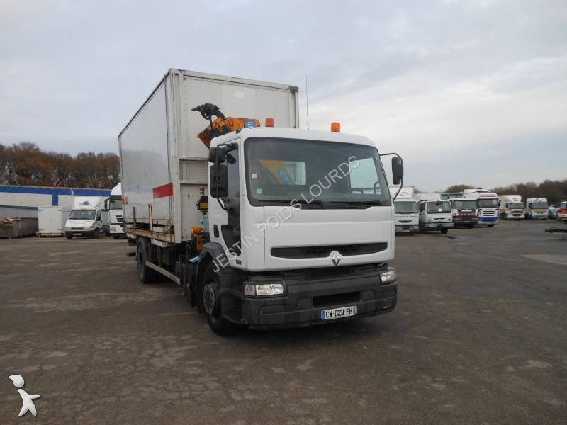 Camion renault porte containers premium dci 4x2 - Camion porte container avec grue occasion ...