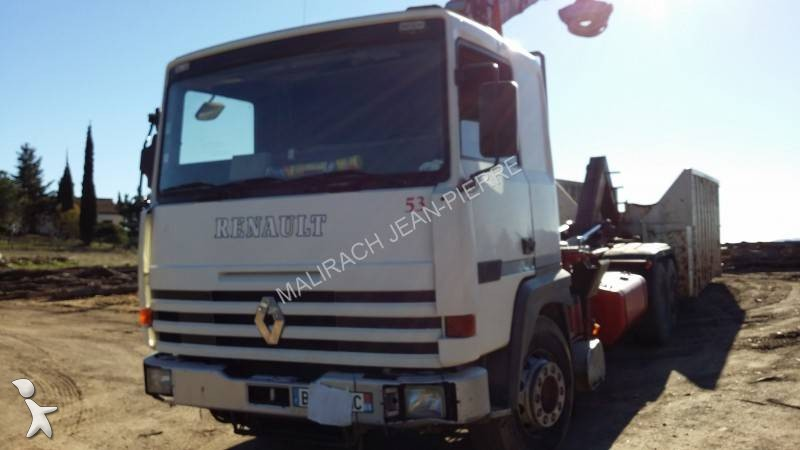 camion renault polybenne major 340 ti 6x2 gazoil occasion n 955738. Black Bedroom Furniture Sets. Home Design Ideas