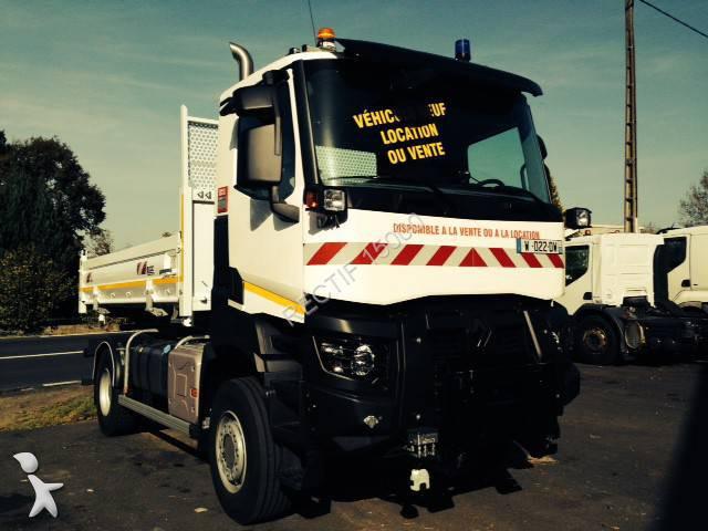 new renault gamme k two way side tipper truck 380 4x4 diesel euro 6 n 1140281. Black Bedroom Furniture Sets. Home Design Ideas