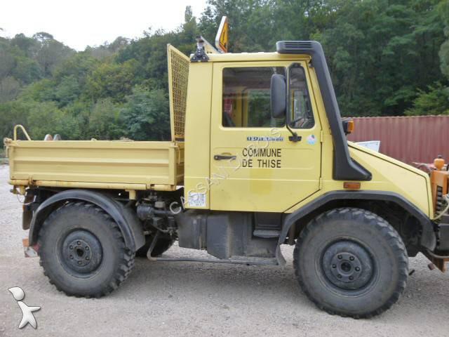 Camion unimog benne u418 4x4 gazoil euro 2 occasion n 1200094 - Vente de domaine public ...