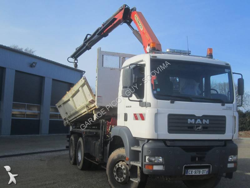 Location camion man tri benne tga 6x4 gazoil euro 3 occasion n 1204619 - Location camion benne ...
