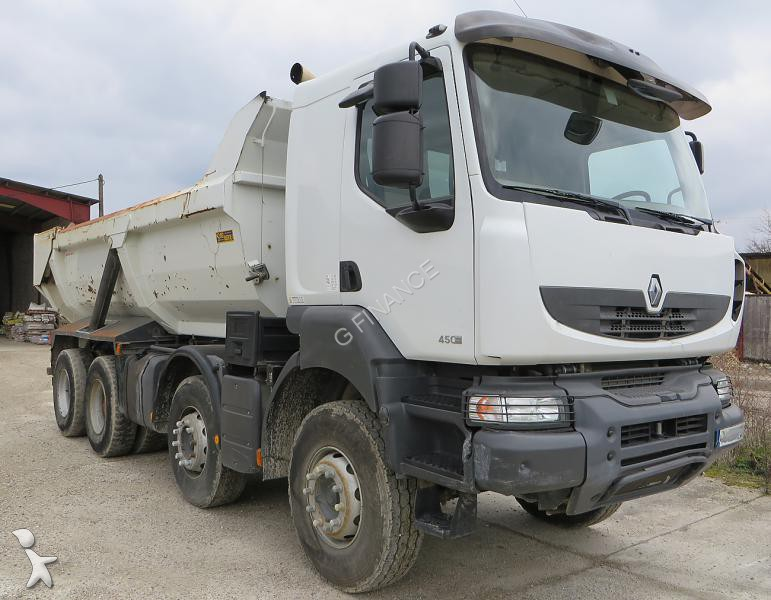 camion renault benne kerax 450 dxi 8x4 gazoil euro 4. Black Bedroom Furniture Sets. Home Design Ideas